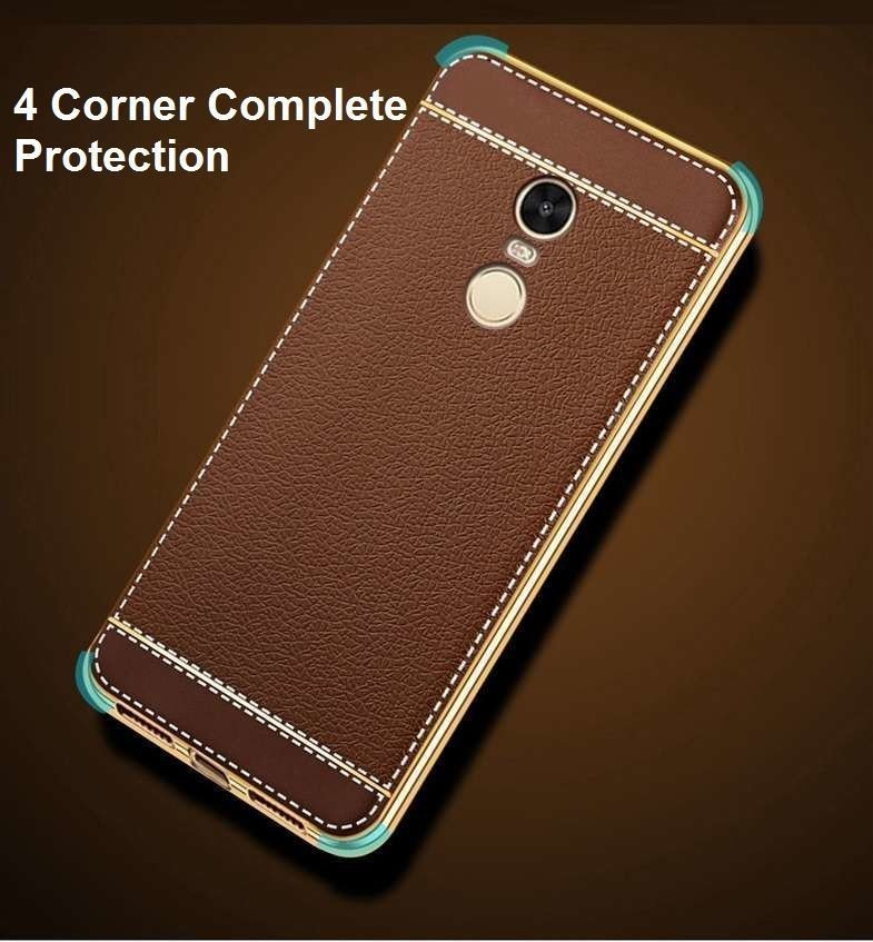 Vaku 174 Xiaomi Redmi Note 4 Leather Stiched Gold