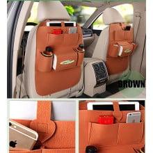 JOYROOM PU Leather Multi-function Car Backseat Organiser- Luxury Car Storage Organizer - Multi-pocket Hanging Seat Back Organiser Storage Bag for Vehicle Car