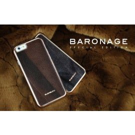 Bushbuck ® Apple iPhone 6 Plus / 6S Plus Metallic Bumper Baronage Dual-Tone Leather Back Cover
