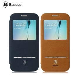 Baseus ® Samsung Galaxy S6 Edge Smart Terse WindowView Suede Leather Case Flip Cover