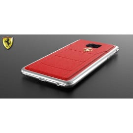 Ferrari ® Samsung S7 Edge Official 599 GTB Logo Double Stitched Dual-Material Pure Leather Back Cover