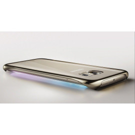 Samsung ® Samsung Galaxy S6 Edge Official Metal Electroplated Corner Drop-Protection Transparent Full-View PCe Back Cover