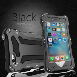 R-JUST ® Apple iPhone 6 / 6S Gundam 2M Waterproof/Shockproof/Dirtproof/Snowproof with Gorilla Glass Aluminium Alloy Metal Case Back Cover