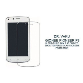 Dr. Vaku ® Gionee Pioneer P3 Ultra-thin 0.2mm 2.5D Curved Edge Tempered Glass Screen Protector Transparent