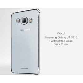 Vaku ® Samsung Galaxy J7 (2016) High Quality Fashion Looking Metal Electroplating Protective PC Back Cover