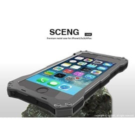 S.CENG ® Apple iPhone 5 / 5S / SE GUNDAM-II Water/Dust Resistant Aluminium Alloy Dual-Color Oxidation Metal Case Back Cover