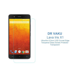 Dr. Vaku ® Lava Iris X1 Ultra-thin 0.2mm 2.5D Curved Edge Tempered Glass Screen Protector Transparent