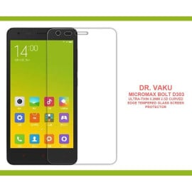 Dr. Vaku ® Micromax Bolt D303 Ultra-thin 0.2mm 2.5D Curved Edge Tempered Glass Screen Protector Transparent