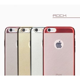 Rock ® Apple iPhone 6 / 6S Flame Line Series Metal Electroplated Transparent TPU Soft / Silicon Case