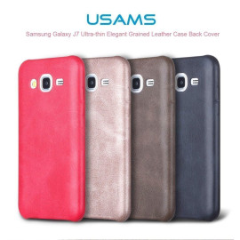 Usams ® Samsung Galaxy J7 (2015) Ultra-thin Elegant Grained Leather Case Back Cover