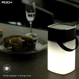 Rock ® Mulite Hands-free Digital Bluetooth Speakers with Inbuilt LED Light Lamp + AUX/Card Support Speaker