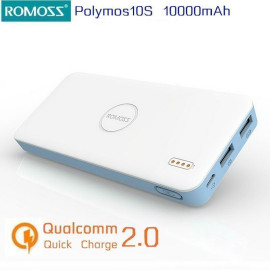 Romoss ® Long Lasting lightweight Lithium Polymer Battery 10,000 mAh Power Bank