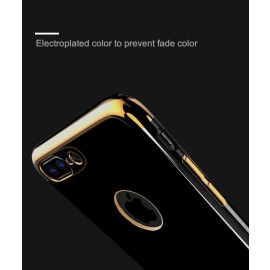 i-Smile ® Apple iPhone 7 Plus Piano Black Bould Series 2K Electroplated Finish Logo Display TPU Back Cover