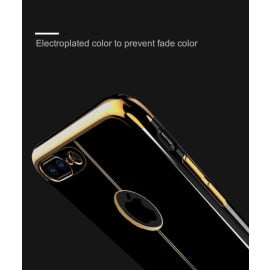 Shengo ® Apple iPhone 7 Plus Piano Black Liner Series 2K Electroplated Finish Logo Display TPU Back Cover