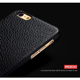 Rock ® Apple iPhone 6 / 6S Jazz Series Lychee Grain Genuine Leather Back Cover