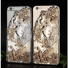 Love Crazy ® Apple iPhone 6 Plus / 6S Plus Dark Angel Star Ghost Series Metallic 3D Plating Back Cover
