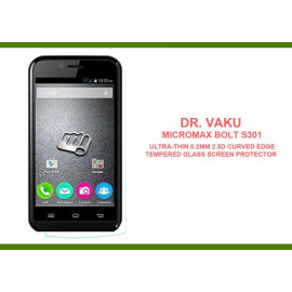 Dr. Vaku ® Micromax Bolt S301 Ultra-thin 0.2mm 2.5D Curved Edge Tempered Glass Screen Protector Transparent