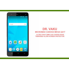 Dr. Vaku ® Micromax Canvas Mega Q417 Ultra-thin 0.2mm 2.5D Curved Edge Tempered Glass Screen Protector Transparent