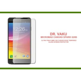 Dr. Vaku ® Micromax Canvas Spark Q380 Ultra-thin 0.2mm 2.5D Curved Edge Tempered Glass Screen Protector Transparent