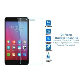 Dr. Vaku ® Huawei Honor 5X Ultra-thin 0.2mm 2.5D Curved Edge Tempered Glass Screen Protector Transparent