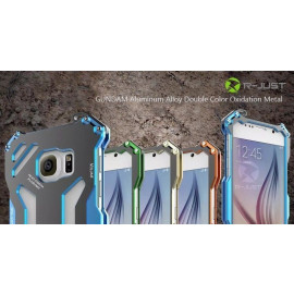 R-JUST ® Samsung Galaxy S6 GUNDAM Aluminium Alloy Dual-Color Oxidation Metal Case Back Cover