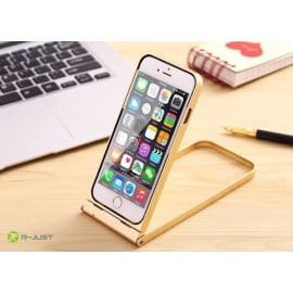 R-JUST ® Apple iPhone 6 / 6S Bluetooth Remote Shutter 360 Rotation + Inbuilt Selfie Stand Aluminium Metal Bumper