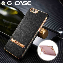 G-Case ® Apple iPhone 7 Plus Ultra-thin Leather with Electroplating + Inbuilt Click Metal Stand Back Cover