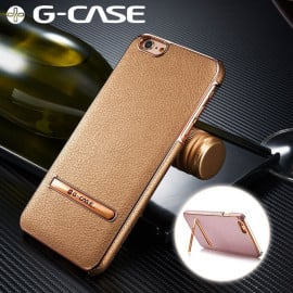 G-Case ® Apple iPhone 6 Plus / 6S Plus Ultra-thin Leather with Electroplating + Inbuilt Click Metal Stand Back Cover