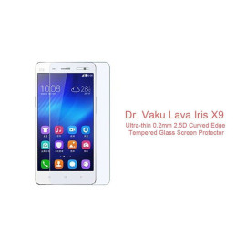 Dr. Vaku ® Lava Iris X9 Ultra-thin 0.2mm 2.5D Curved Edge Tempered Glass Screen Protector Transparent