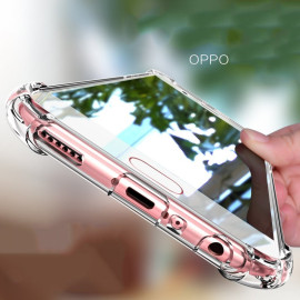 Vaku ® Oppo F1S PureView Series Anti-Drop 4-Corner 360° Protection Full Transparent TPU Back Cover