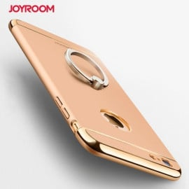 Joyroom ® Apple iPhone 6 Plus / 6S Plus Ling series Ultra Thin Electroplating Splicing PC + Inbuilt Metal Ring Kickstand Back Cover