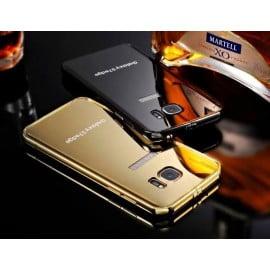 Xuenair ® Samsung Galaxy S7 Edge Mirror Finish Ultra Slim Metal Electroplating Arc Aluminium Bumper + Back Cover