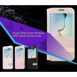 Usams ® Samsung Galaxy S6 Emug Series Smart Awakening Folio + inbuilt Stand Leather Flip Cover