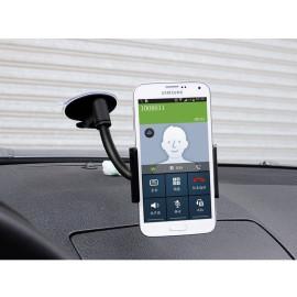 Baseus ® Flexible Curve Mount Arm Expander PC Grip 4-6inch iPad/Android Tablet Car Holder Black