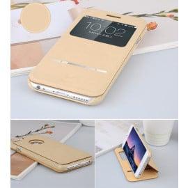 Baseus ® Apple iPhone 6 / 6S Smart Terse WindowView Suede Leather Case Flip Cover