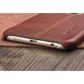 Vaku ® Samsung Galaxy A8 Lexza Series Double Stitch Leather Shell with Metallic Logo Display Back Cover