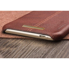 Vaku ® Redmi Note 3 Lexza Series Double Stitch Leather Shell with Metallic Logo Display Back Cover