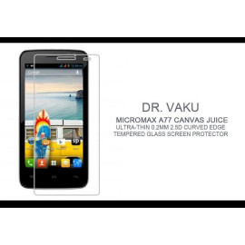 Dr. Vaku ® Micromax A77 Canvas Juice Ultra-thin 0.2mm 2.5D Curved Edge Tempered Glass Screen Protector Transparent