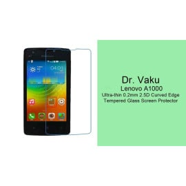 Dr. Vaku ® Lenovo A1000 Ultra-thin 0.2mm 2.5D Curved Edge Tempered Glass Screen Protector Transparent