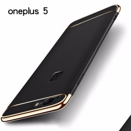 Vaku ® OnePlus 5 Ling Series Ultra-thin Metal Electroplating Splicing PC Back Cover