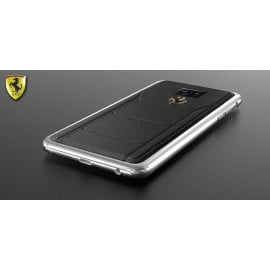 Ferrari ® Samsung Note 5 Official 599 GTB Logo Double Stitched Dual-Material Pure Leather Back Cover