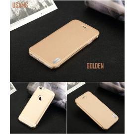 Usams ® Apple iPhone 6 / 6S Sailling Metallic Chrome Finish Flip Cover