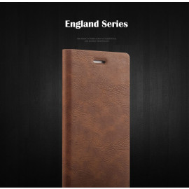 Joyroom ® Apple iPhone 7 Plus England Folio with Stand + Credit Card Slot Magnetic Flip Cover