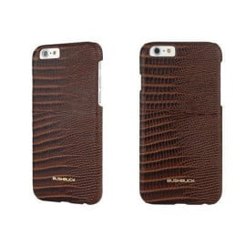 Bushbuck ® Apple iPhone 6 / 6S Lizard Textured Design Premium Leather Back Cover