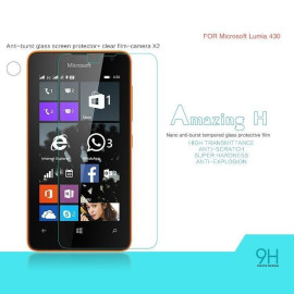 Dr. Vaku ® Microsoft Lumia 430 Ultra-thin 0.2mm 2.5D Curved Edge Tempered Glass Screen Protector Transparent