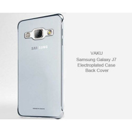 Vaku ® Samsung Galaxy J7 (2015) High Quality Fashion Looking Metal Electroplating Protective PC Back Cover