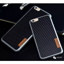 WUW ® Apple iPhone 6 / 6S K22 Carbon Fiber Finish Ultra-Light & Thin Grip Back Cover