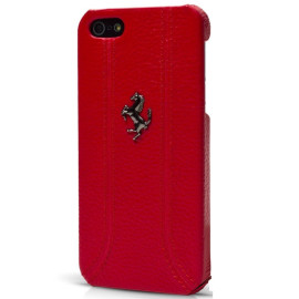 Ferrari ® Apple iPhone 5 / 5S / SE Official Hand Stitched Premium Leather Case Back Cover