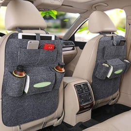 JOYROOM PU Leather Multi-function Car Backseat Organiser- Luxury Car Storage Organizer - Multi-pocket Hanging Seat Back Organiser Storage Bag for Vehicle Car