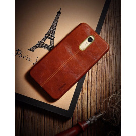 Vaku ® Redmi Note 4 Lexza Series Double Stitch Leather Shell with Metallic Logo Display Back Cover